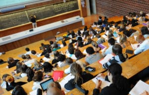 étudiants étrangers en cours